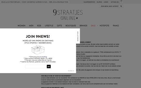 Screenshot of FAQ Page 9straatjesonline.com - FAQ - captured Aug. 11, 2016