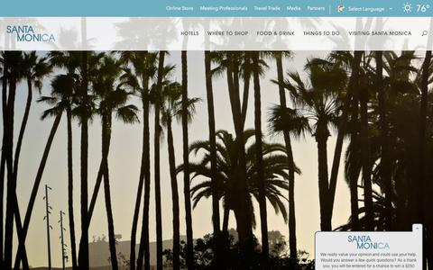 Screenshot of Press Page santamonica.com - Media Relations | Santa Monica - captured Sept. 22, 2018