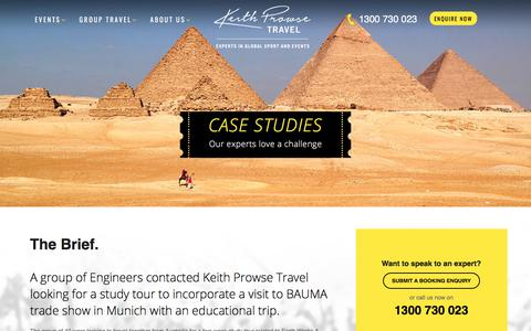 Screenshot of Case Studies Page kpt.com.au - Case Studies - Keith Prowse Travel - captured Oct. 17, 2017