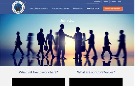 Screenshot of Jobs Page workopportunities.net - Careers - Work Opportunities Unlimited - captured Jan. 15, 2016