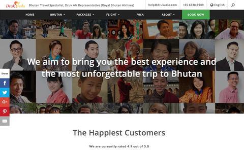 Screenshot of Testimonials Page drukasia.com - Bhutan Travel Review & Testimonial | Druk Asia - captured Nov. 24, 2016