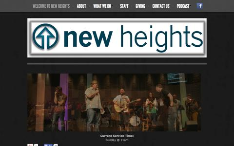 Screenshot of Home Page newheightsboise.com - Welcome to New Heights - New Heights Boise - captured Oct. 6, 2014
