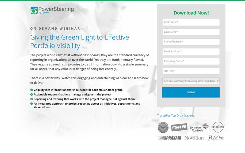 PowerSteering Webinar: Giving the Green Light to Effective Portfolio Visibility