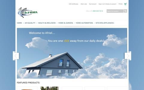 Screenshot of Home Page afriel.com - Afriel.com - captured Oct. 4, 2014