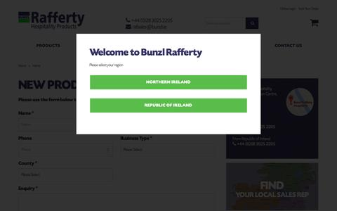Screenshot of Contact Page raffertyhospitality.com - Hospitality Suppliers Throughout Ireland | Bunzl Raf... - captured Oct. 7, 2018