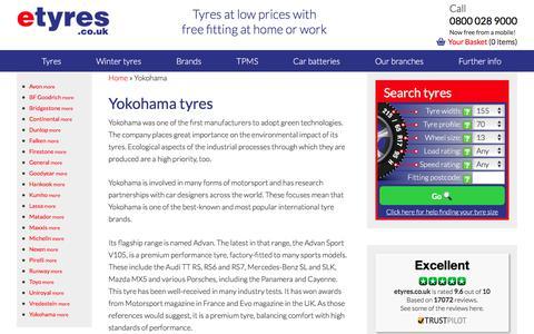Cheap Yokohama tyres : With Free Mobile Fitting - etyres