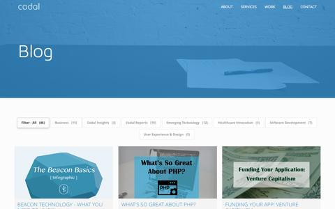 Offical Blog of Codal Inc