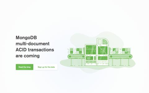 Screenshot of Home Page mongodb.com - MongoDB for GIANT Ideas | MongoDB - captured Feb. 17, 2018