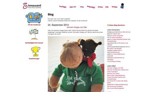 Screenshot of Blog innocentdrinks.de - innocent drinks - familie - captured Nov. 4, 2014
