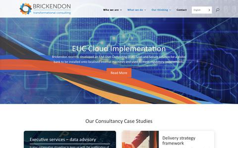 Screenshot of Case Studies Page brickendon.com - Consultancy Case Studies – Financial Services – Brickendon - captured Oct. 6, 2018
