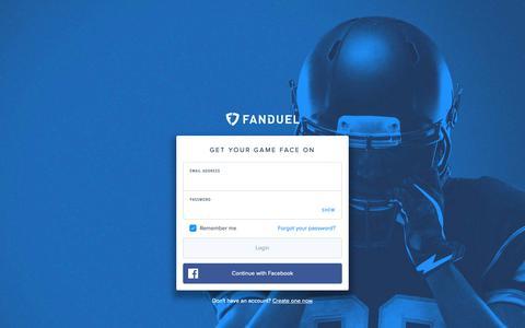 Screenshot of Support Page fanduel.com - Log In | FanDuel - captured May 7, 2019
