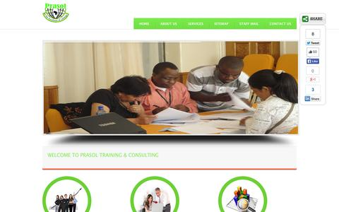 Screenshot of Home Page prasolconsult.org - Prasol Training & Consulting  Home - Prasol Training & Consulting - captured Oct. 1, 2014