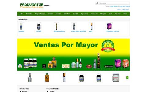 Screenshot of Home Page produnatur.com - Produnatur - captured Oct. 4, 2014