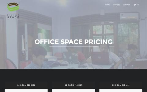 Screenshot of Pricing Page bilinespace.com - Office Space Pricing | Biline Space - captured Nov. 22, 2016