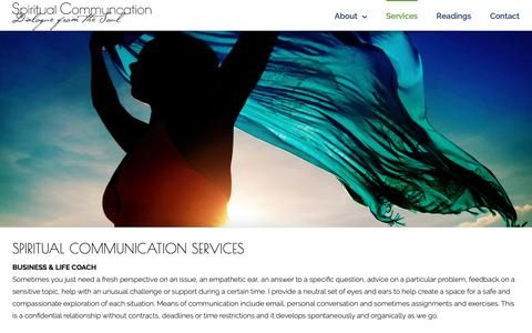 Screenshot of Services Page spiritual-communication.com - Spiritual Communication Services , Alternative Healing, Psychic & Clairvoyant Readings - captured Dec. 11, 2018