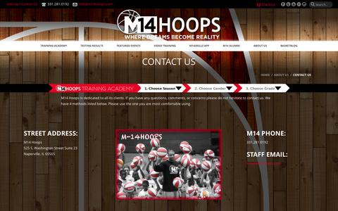 Screenshot of Contact Page m14hoops.com - Contact Us - M14 Hoops - captured Sept. 30, 2014