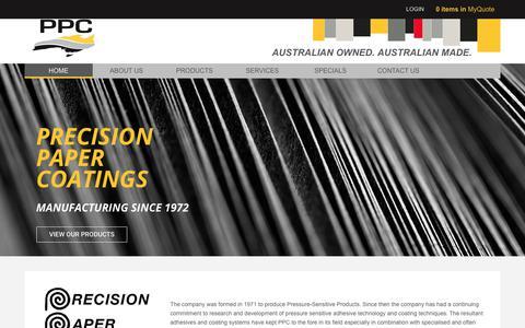 Screenshot of Home Page ppcpl.com.au - Home - PPC - captured Nov. 11, 2018