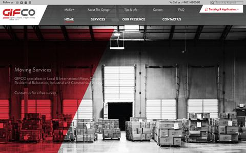 Screenshot of Home Page gifco.com - GIFCO – logistics leaders , freight dealers since 1971 - captured July 18, 2018