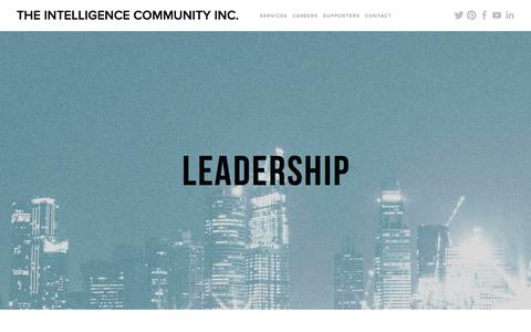 Screenshot of Team Page theintelligencecommunity.com - Leadership — The Intelligence Community Inc. - captured Nov. 17, 2017