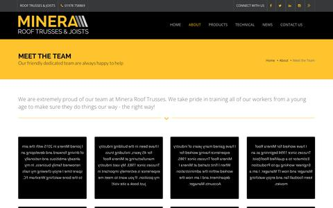 Screenshot of Team Page minera-rooftrusses.com - Meet the Team | Minera Roof Trusses - captured Oct. 20, 2018