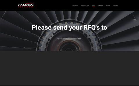 Screenshot of About Page falcon-aerospace.com - RFQ - captured Nov. 14, 2018