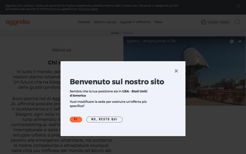 Screenshot of About Page aggreko.com - Chi siamo | Aggreko - captured Dec. 27, 2017