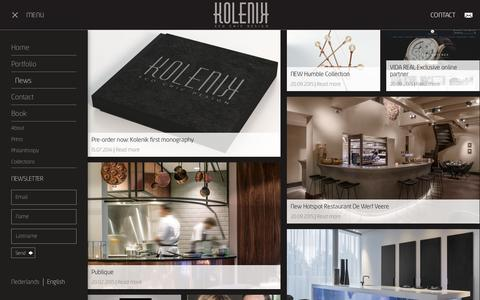 Screenshot of Press Page kolenik.com - NEWS l Kolenik Eco Chic Design - captured Feb. 12, 2016