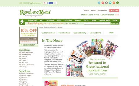 Screenshot of Press Page rosenberryrooms.com - Rosenberry Rooms News, News Stories Rosenberry Rooms, Rosenberry Rooms Articles, Rosenberry Rooms Interviews - Rosenberry Rooms - captured Sept. 19, 2014