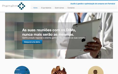 Screenshot of Home Page pharmatrim.net - PharmaTrim | Auxilio à gestão e optimização de compras em Farmácia - captured Sept. 29, 2014