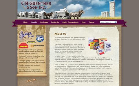 Screenshot of About Page chg.com - C.H. Guenther & Son, Inc.   » About Us - captured Oct. 1, 2014