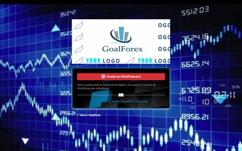 Screenshot of Login Page goalforex.net - Acceder ‹ Goalforex — WordPress - captured July 21, 2018