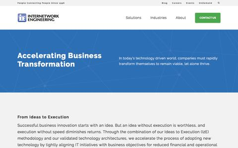 Screenshot of Services Page ineteng.com - Solutions | Internetwork Engineering - captured Dec. 10, 2017