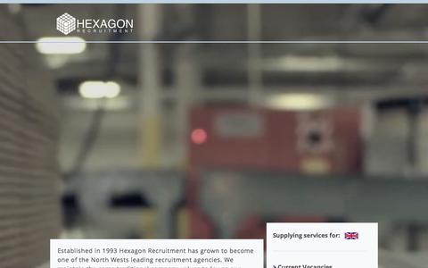 Screenshot of Home Page hexagonrecruitment.co.uk - hexagon-recruitment - captured Jan. 22, 2016