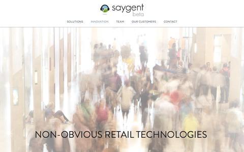 Screenshot of Home Page saygent.com - Saygent - captured Sept. 17, 2014
