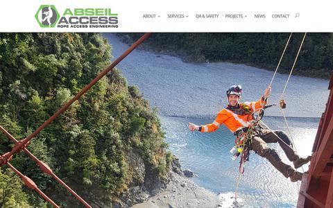 Screenshot of Press Page abseilaccess.co.nz - News - Abseil Access - captured Oct. 2, 2018