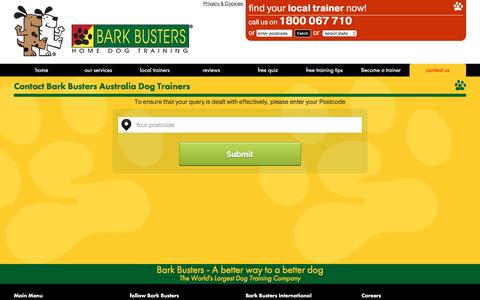 Screenshot of Contact Page barkbusters.com.au - Contact us - Bark Busters Home Dog Training. - captured June 15, 2016