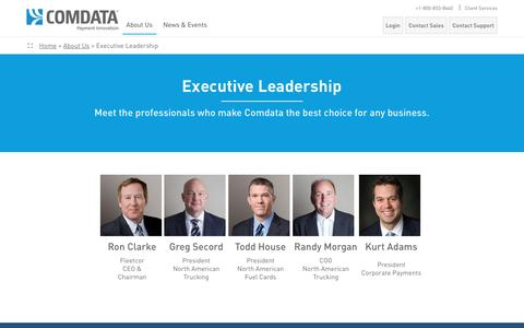 Screenshot of Team Page efueling.com - Executive Leadership - captured Nov. 15, 2016