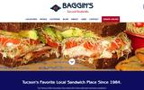 New Screenshot Baggin's Gourmet Sandwiches Home Page