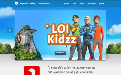 Screenshot of Home Page thepeoplesvalley.nl - internetbureau the people's valley - captured Oct. 9, 2014