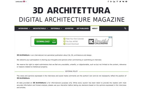 Screenshot of About Page 3darchitettura.com - 3d Architettura editorial team - captured Aug. 17, 2016