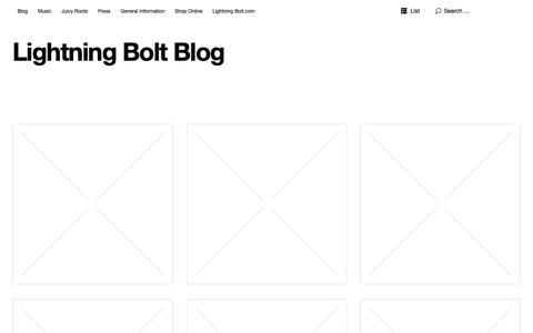 Screenshot of Blog lightningbolt-usa.com - Lightning Bolt Blog | Lightning Bolt | Blog - captured March 29, 2019