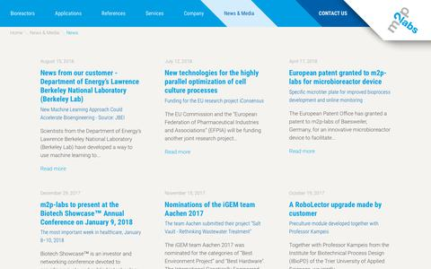 Screenshot of Press Page m2p-labs.com - News  m2p-labs - captured Oct. 19, 2018