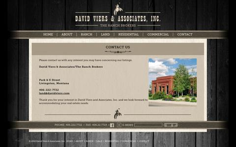 Screenshot of Contact Page davidviers.com - Contact Us | David Viers & Associates - captured Oct. 5, 2014