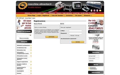 Screenshot of Login Page macchine-alimentari.it - Macchine Alimentari - captured Nov. 2, 2014