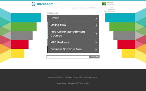 Screenshot of Landing Page davita.com - davita.com - captured July 25, 2017