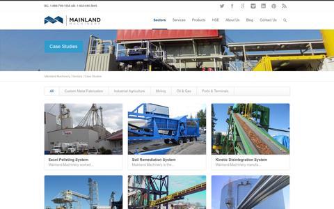 Screenshot of Case Studies Page mainlandmachinery.com - System Case Studies | Mainland Machinery - captured Sept. 30, 2014