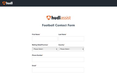Hudl Assist for Football | Contact Form