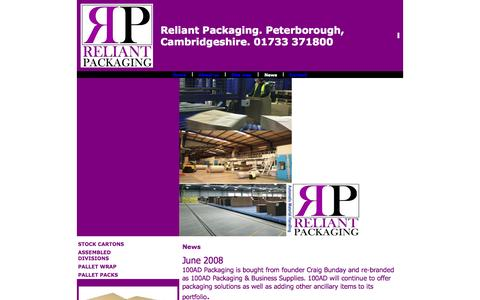 Screenshot of Press Page reliantpackaging.co.uk - packaging,cartons,print,peterborough,cambridgeshire - captured Oct. 9, 2014