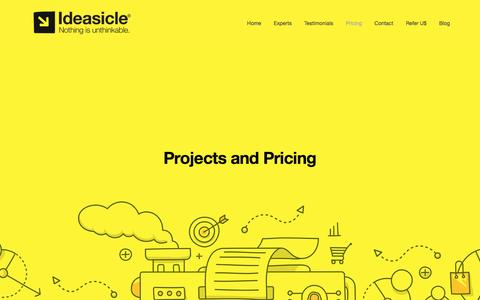 Screenshot of Pricing Page ideasicle.com - Pricing — Ideasicle - captured Nov. 16, 2016
