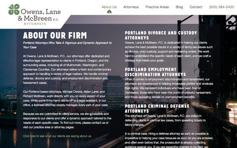 Screenshot of About Page olmpdx.com - About Owens, Lane & McBreen, P.C. – Portland, OR - captured Oct. 6, 2014